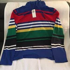 Polo Ralph Lauren L/S polo with hoodie size Large